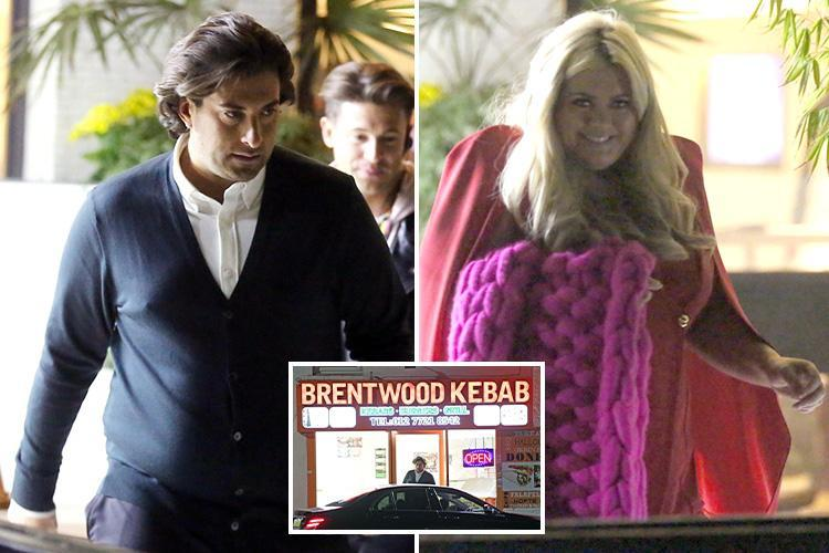 Gemma Collins and James Argent stop off for a kebab before heading home for a sleepover