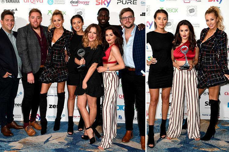 Amber Davies reunites with Olivia Attwood, Marcel Somerville and Montana Brown as they collect the TRIC Awards Reality show gong for Love Island