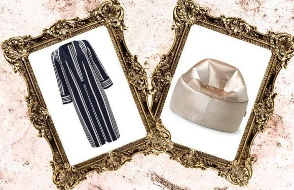 A stripey duster coat and very glam chair… here's what we're lusting after today