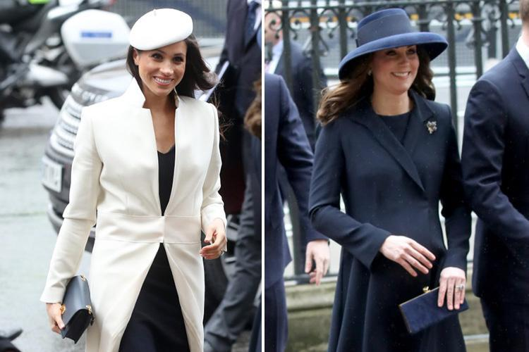 People are noticing something odd about Meghan Markle and Kate Middleton's shoes