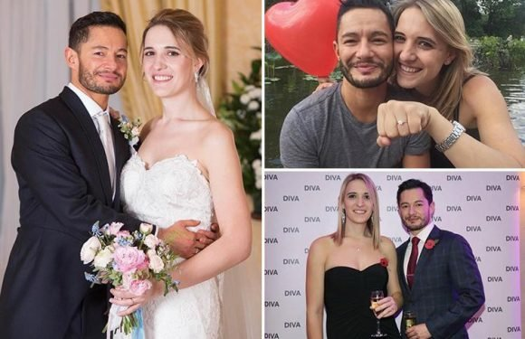 Transgender newlyweds reveal joy at tying the knot as they say 'we're just like any couple in love'
