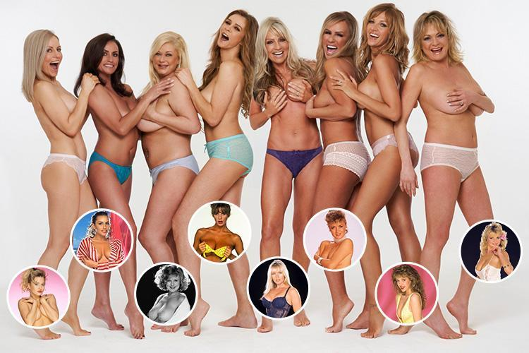 Page 3 icons bravely dare to bare 20 years on to raise money for terminally ill modelling pal Belinda Gilfoyle