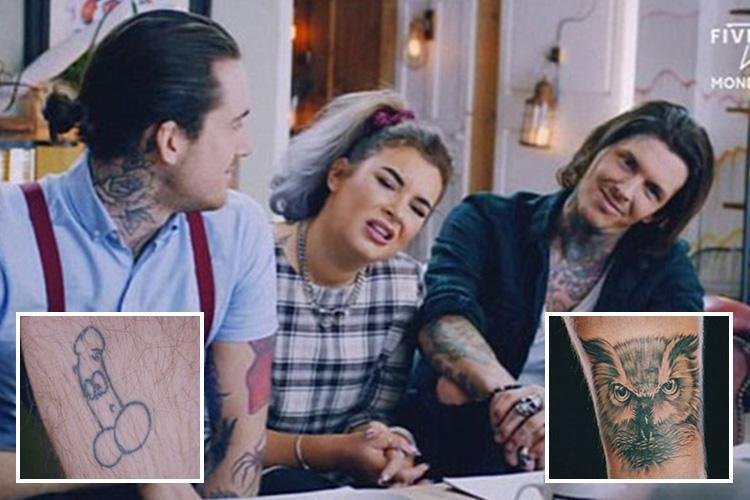 Tattoo Fixers forced to turn giant penis into an owl