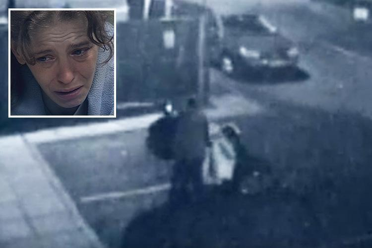Chilling moment suspect piles victim's body on mobility scooter and dumps it in park