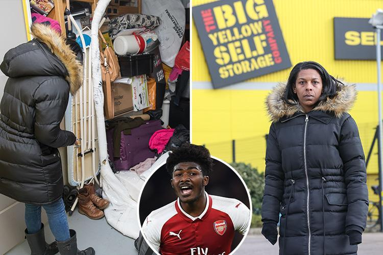 Arsenal star Ainsley Maitland Niles' homeless mum may be kicked on to the streets after revealing she lives in a storage box