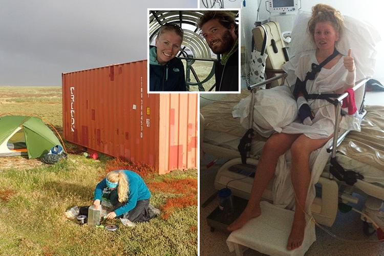 Couple survives being flung from shipping container during storm in the Falklands