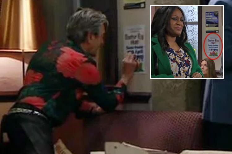 Emmerdale's Rodney corrects Easter date poster blunder after Jai points out error on screen