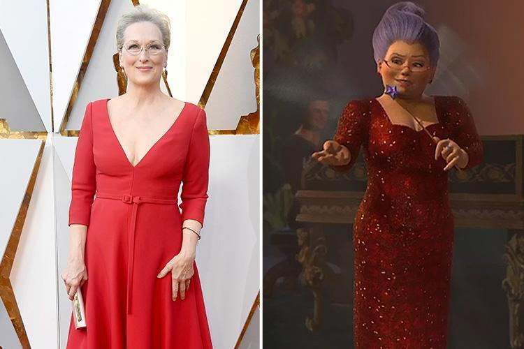 Oscars 2018 viewers in hysterics at Meryl Streep as they compare her to Shrek's fairy Godmother