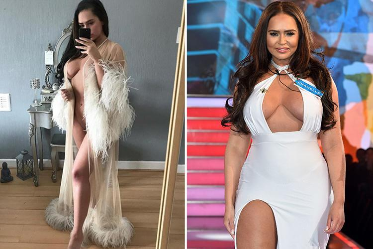 Big Brother's Chanelle McCleary posts nearly nude picture on Twitter as she poses in a feather trimmed dressing gown – The Sun