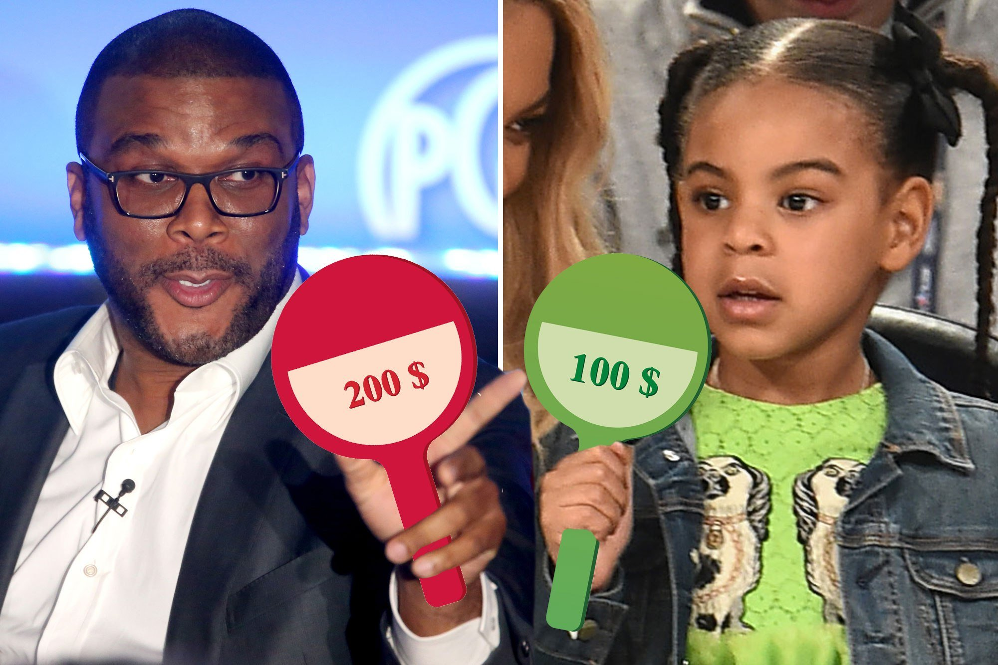 Tyler Perry couldn't be 'outdone' by Blue Ivy at auction
