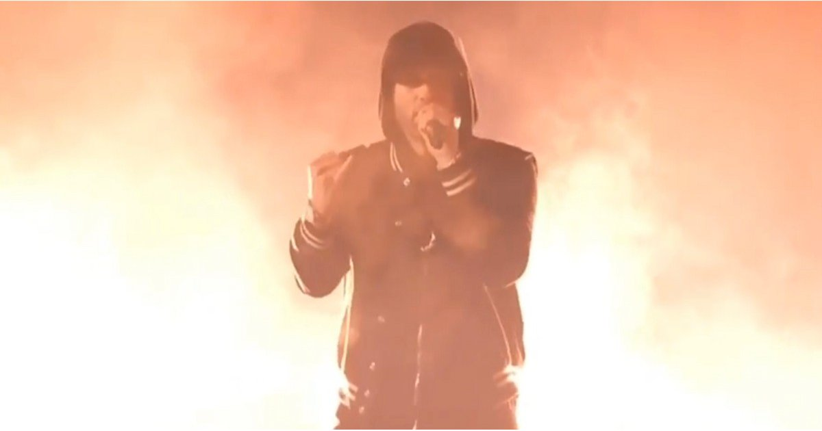 Eminem Delivers a Powerful Gun-Violence-Themed Performance at the iHeartRadio Awards