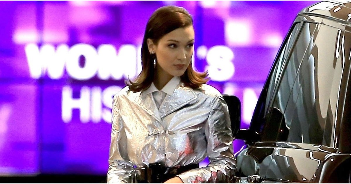 Don't Let Bella Hadid's Shiny Coat Distract You From Her Classic Shoes