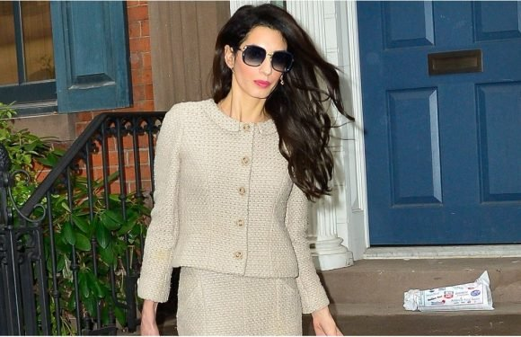 Amal Clooney Means Business in Her Cream-Colored Skirt Suit, Don't You Think?