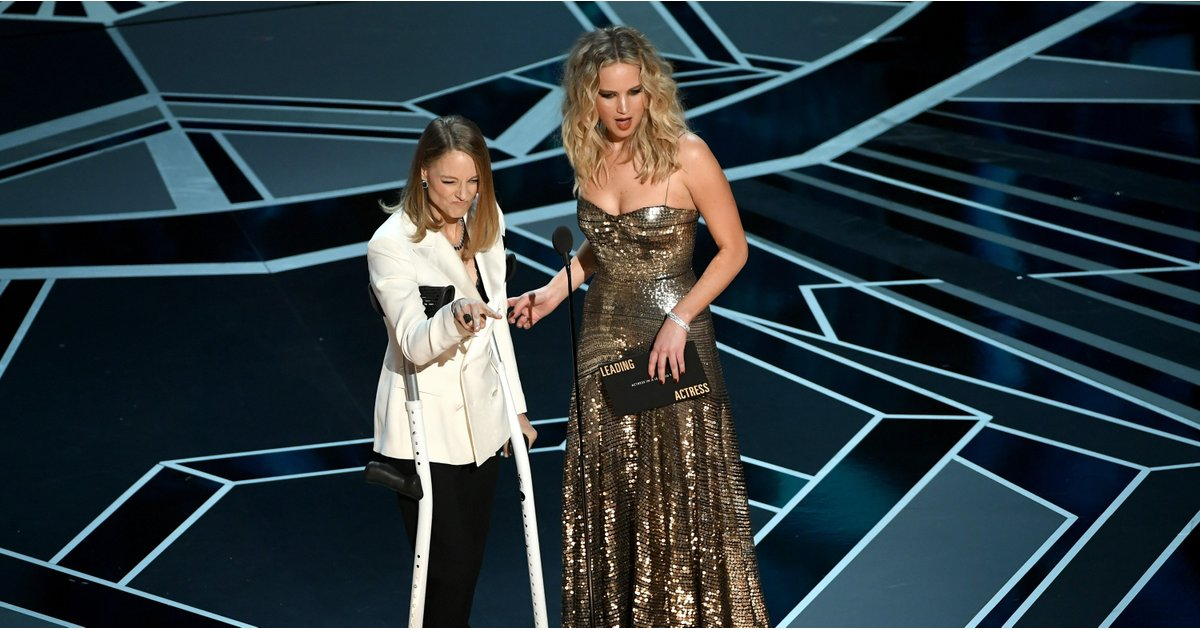 Why Was Jodie Foster on Crutches at the Oscars? We're Not Buying the Meryl Streep Story!