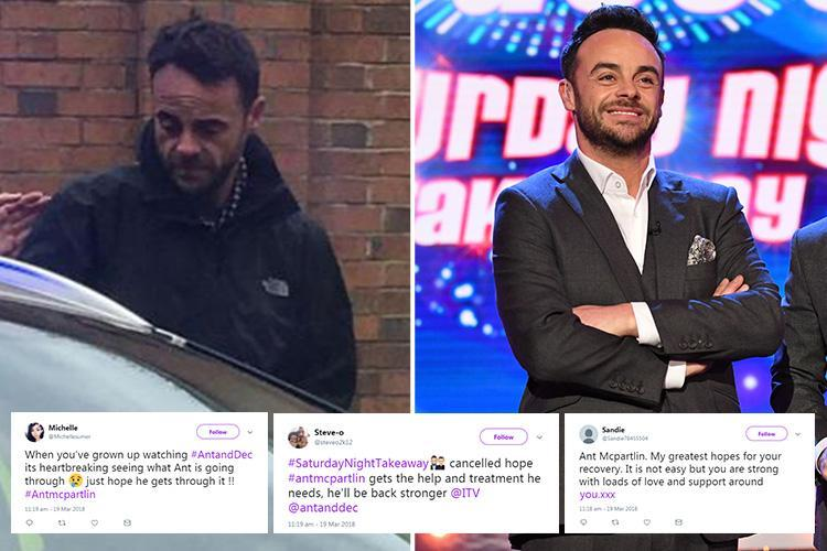 Ant McPartlin fans back brave star as he returns to rehab following drink-drive arrest – The Sun