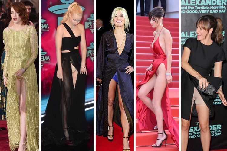 What are the worst red carpet wardrobe malfunctions of all time? From Kelly Brook and Dakota Johnson to Emma Stone