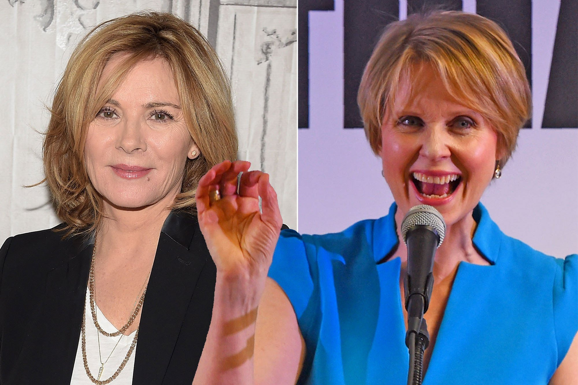Kim Cattrall supports Cynthia Nixon's run for governor