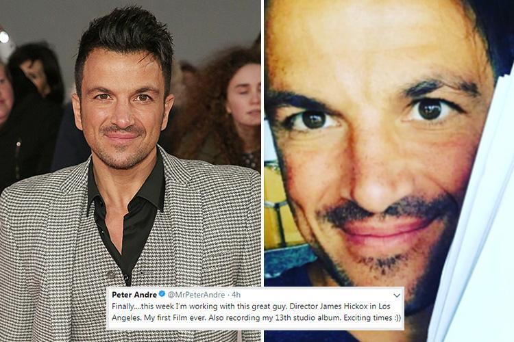 Peter Andre reveals he's off to Los Angeles this week after landing his first ever movie role