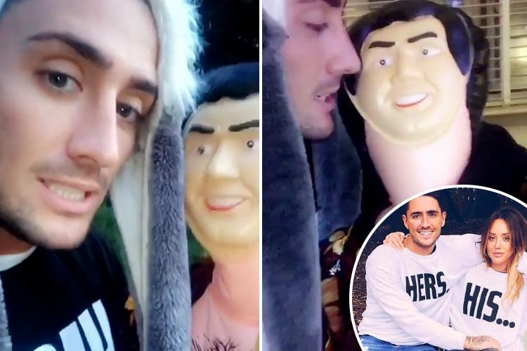 Stephen Bear threatens Charlotte Crosby with inflatable 'solicitor' following feud over money