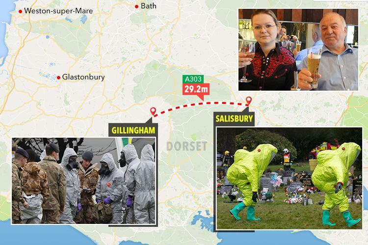 Police hunt for mystery couple 'spotted near Russian spy Sergei Skripal moments before he collapsed' as nerve agent probe broadens to second Dorset town