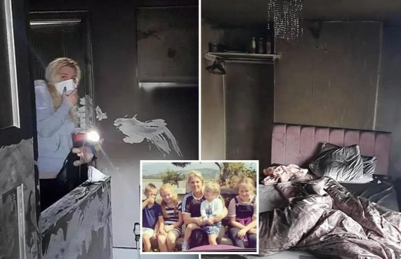 Mum and four young children left homeless after 'hoverboard burst into flames' and destroys house