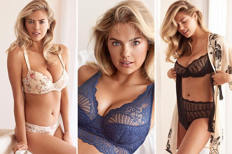 Kate Upton strips to lace lingerie for jaw-dropping new underwear campaign