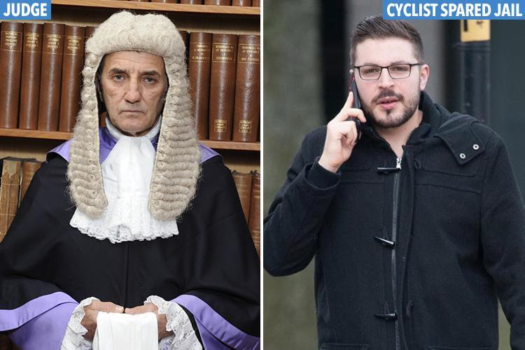 Judge slams cyclists who ride on pavements as 'potential killers' after rider, 24, mows down woman, 72, outside shop