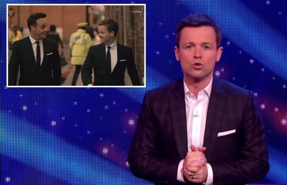 Saturday Night Takeaway keep Ant McPartlin in the opening credits but viewers are left baffled as Declan Donnelly fails to mention him