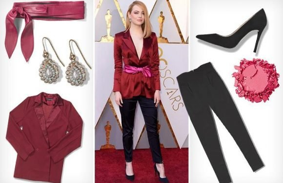 Here's how to look like actress Emma Stone, 29, on the red carpet and pull off the colour combo of the year