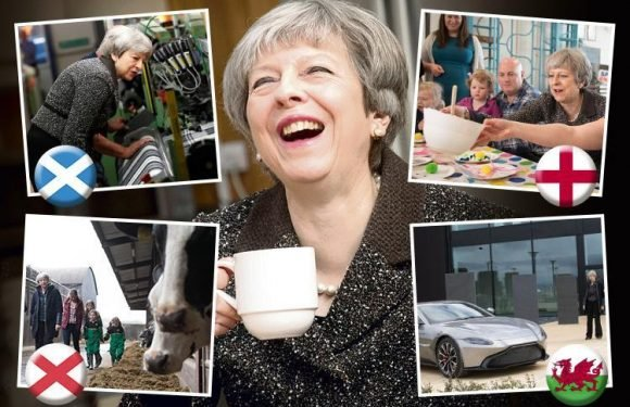 PM Theresa May pledges more cash for health as she tours UK to quiz Brits over Brexit fears