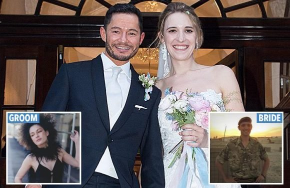 Transgender Army officer Hannah weds actor Jake – who used to be a woman