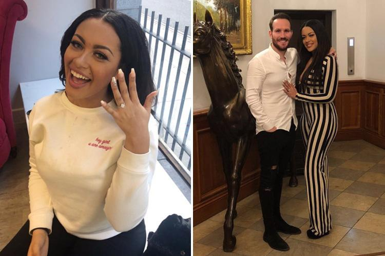 Take Me Out stars get engaged during Harry Potter themed date – one year after meeting on the show