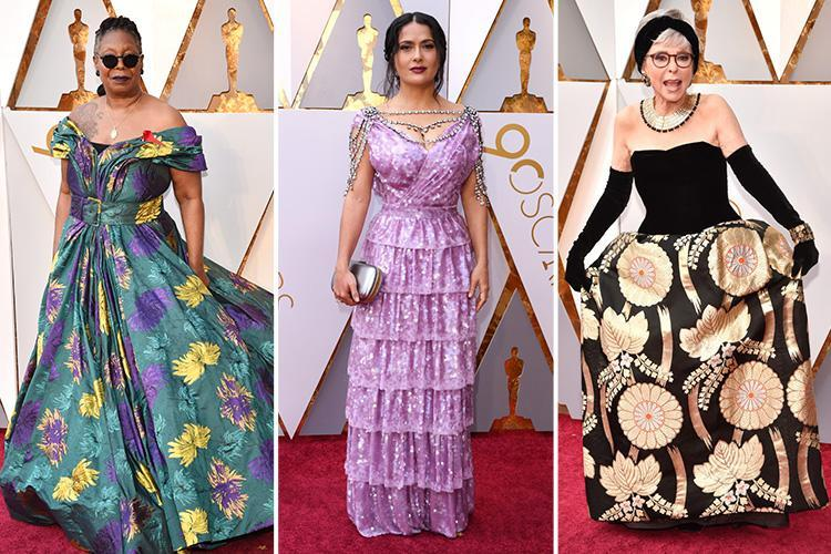 Oscars 2018 red carpet worst dressed sees Salma Hayek, Mary J Blige and Whoopi Goldberg among the stars to get it all wrong at the 90th Academy Awards
