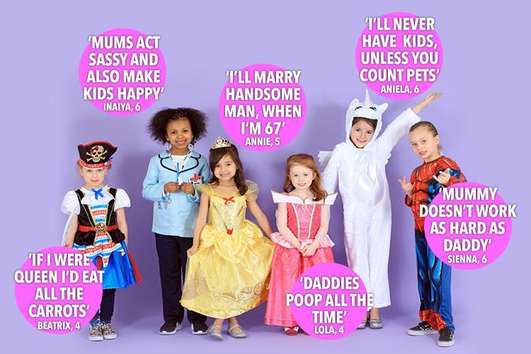 Fabulous four to six-year-olds give their opinion on their dream jobs, marriage and kids to celebrate International Women's Day