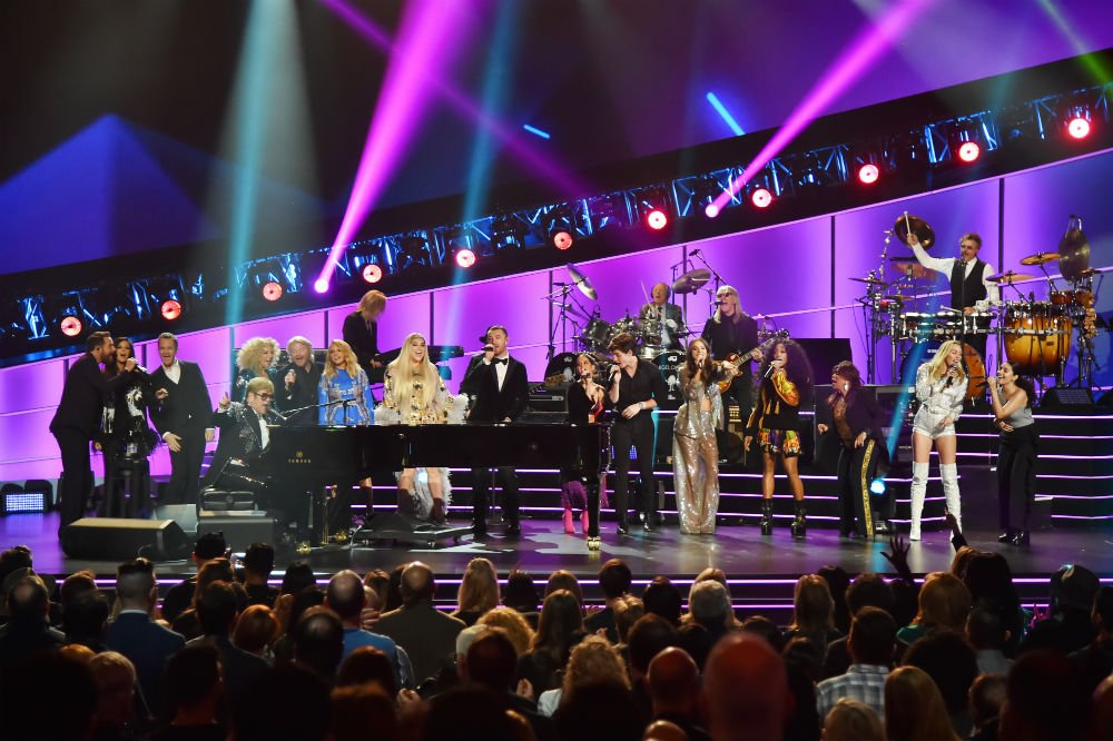 Inside the Elton John Post-Grammys Tribute Concert, With Ed Sheeran, Lady Gaga, Miley Cyrus, SZA and More (Watch)