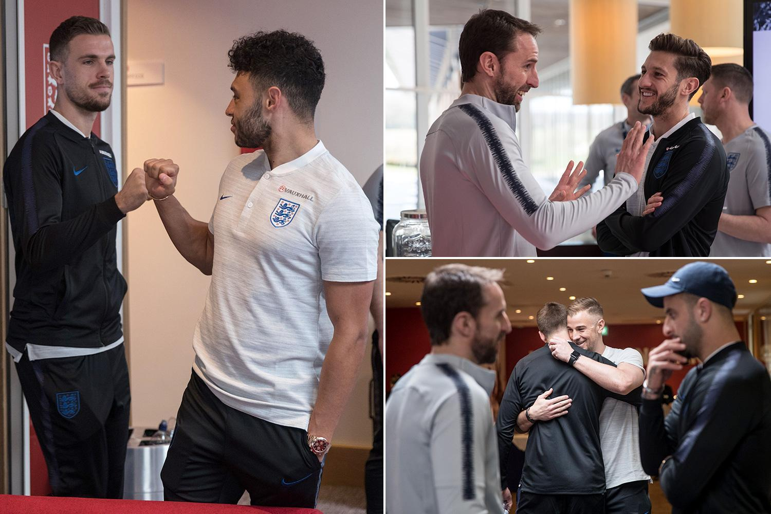 England squad look tight knit as stars greet each other on first england squad look tight knit as stars greet each other on first meet up m4hsunfo