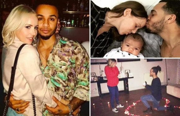Strictly star Aston Merrygold relives his romantic proposal and reveals he is a 'natural' dad… despite his 'panic' over milk spots