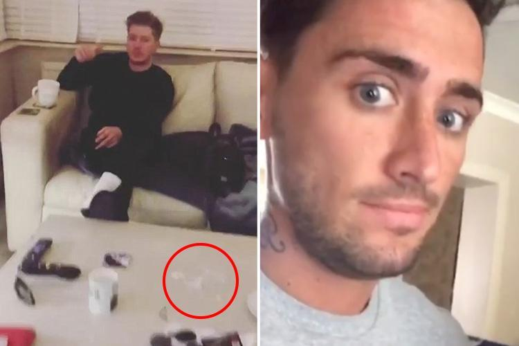 Stephen Bear DENIES taking drugs after followers spot 'suspicious white powder' on his mum's coffee table in Instagram video