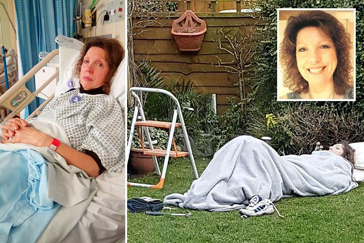 Mum, 61, who broke back while gardening had to wait TWO HOURS in freezing cold for ambulance… and another FIVE to see a doctor – The Sun
