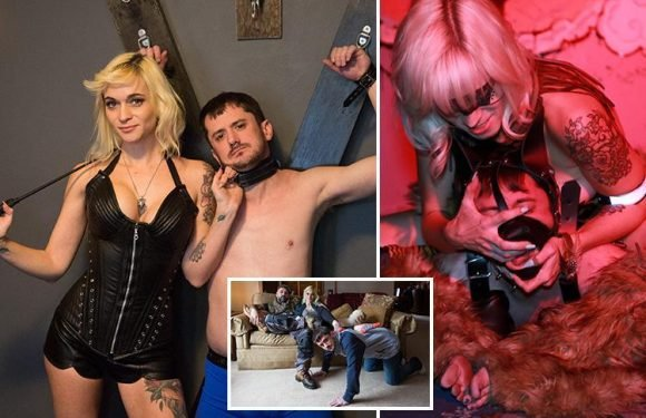 Dominatrix reveals she has two live-in male sex slaves who spend every hour of the day waiting on her hand and foot