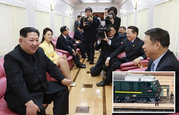 First pics show inside Kim Jong-un's booze-filled bulletproof train that he used to travel to China