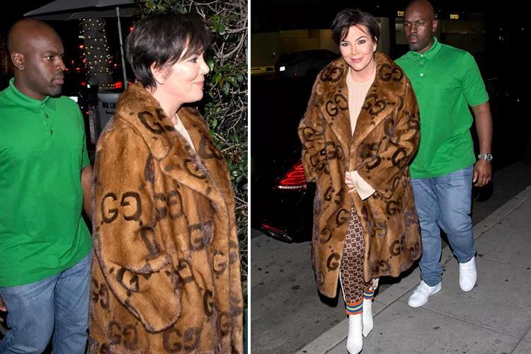 Kris Jenner wears Gucci fur coat worth £40,000 on date night with boyfriend Corey Gamble after being slammed by animal rights activists