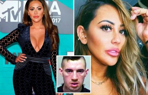 Armed thug who forced his way into Geordie Shore star Sophie Kasaei's home and threatened to stab her unless she opened her safe caged for more than six years