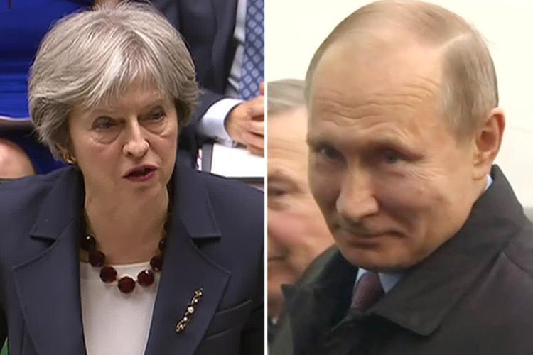 Theresa May kicks out 23 Russian spies from the UK and blasts Putin's 'contempt' for Salisbury poisoning
