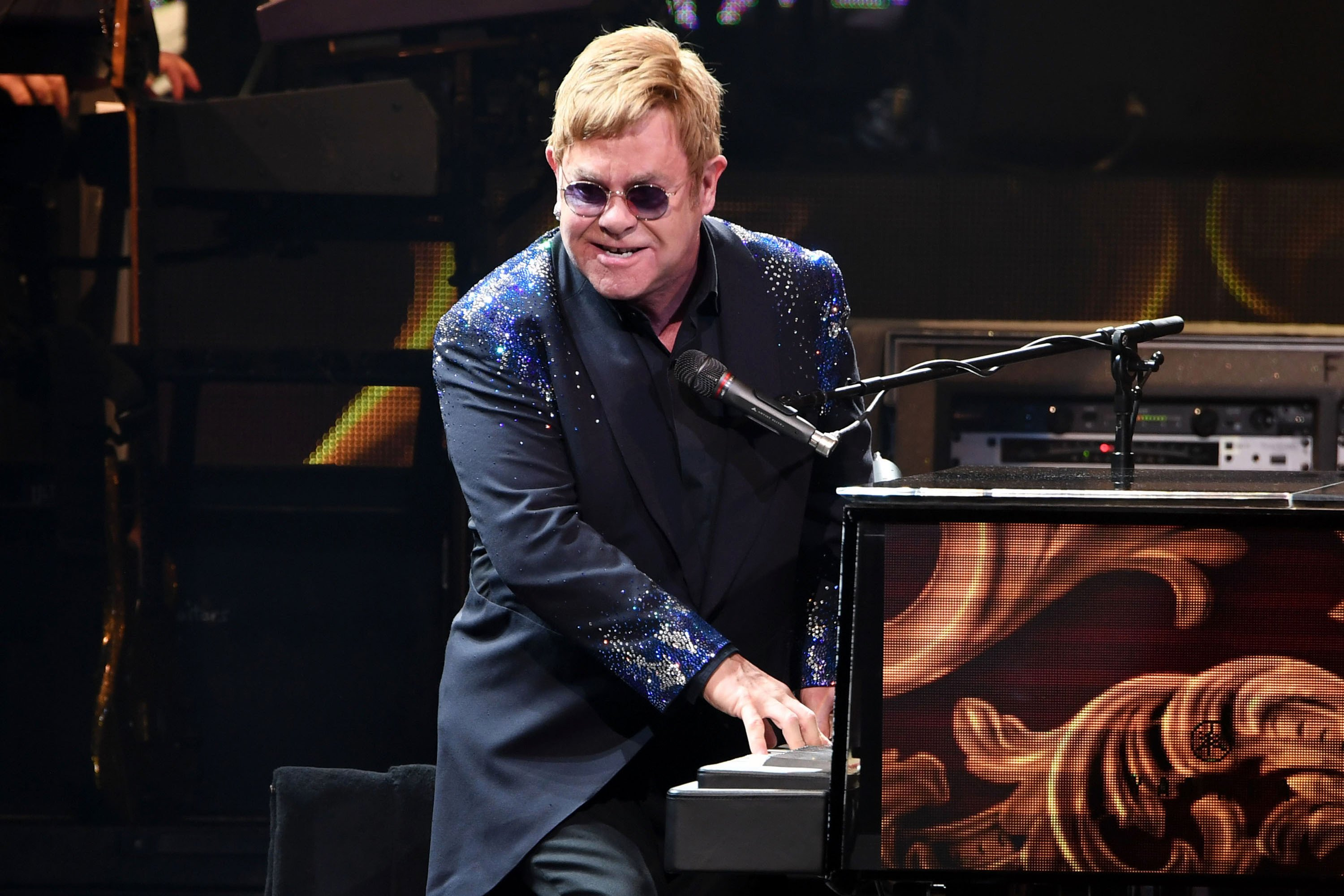 Elton John tells overeager fan to 'f–k off' before leaving stage