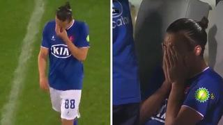 Heartbreaking moment former team-mate of Davide Astori breaks down in tears during match after learning about Fiorentina captain's tragic death