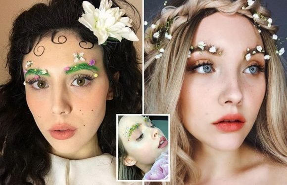'Garden' brows are the latest bizarre beauty trend… and they're the perfect weird nod to spring