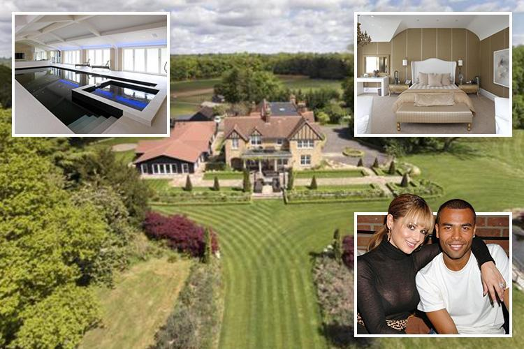 Love-rat footballer Ashley Cole made £2.5m profit on the Surrey mansion he shared with ex-wife Cheryl