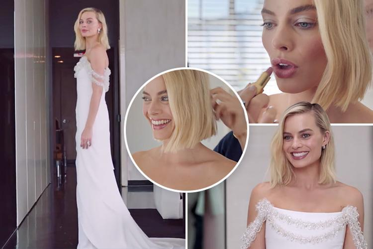Behind-the-scenes video shows Margot Robbie getting ready for the Oscars with Chanel