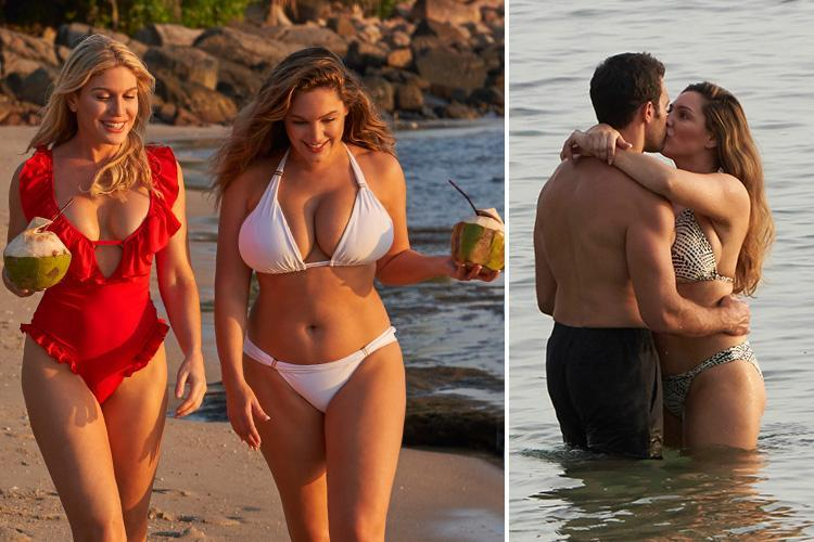 Kelly Brook looks incredible in white bikini as she enjoys trip to Thailand with her friends and boyfriend Jeremy Parisi